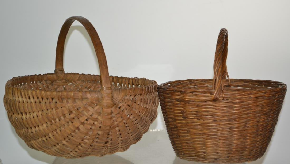Two Vintage Egg Baskets