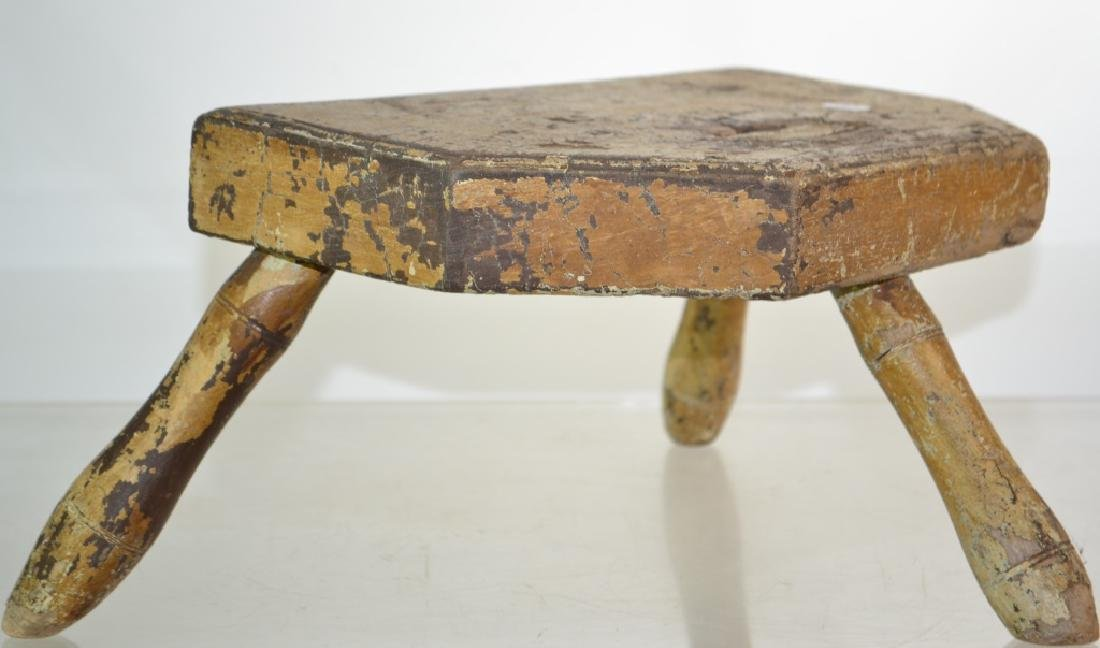 19th Century Windsor Tripod Stool - 2