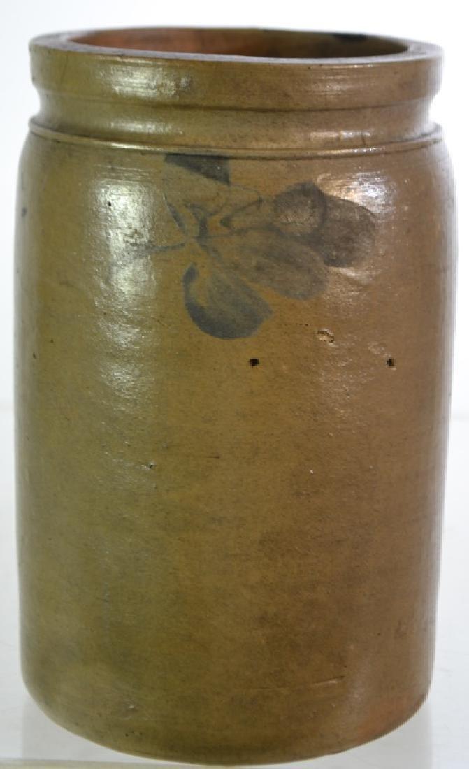 Blue Decorated Stone Ware Vessel