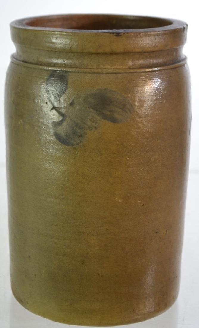 Blue Decorated Stone Ware Vessel - 2