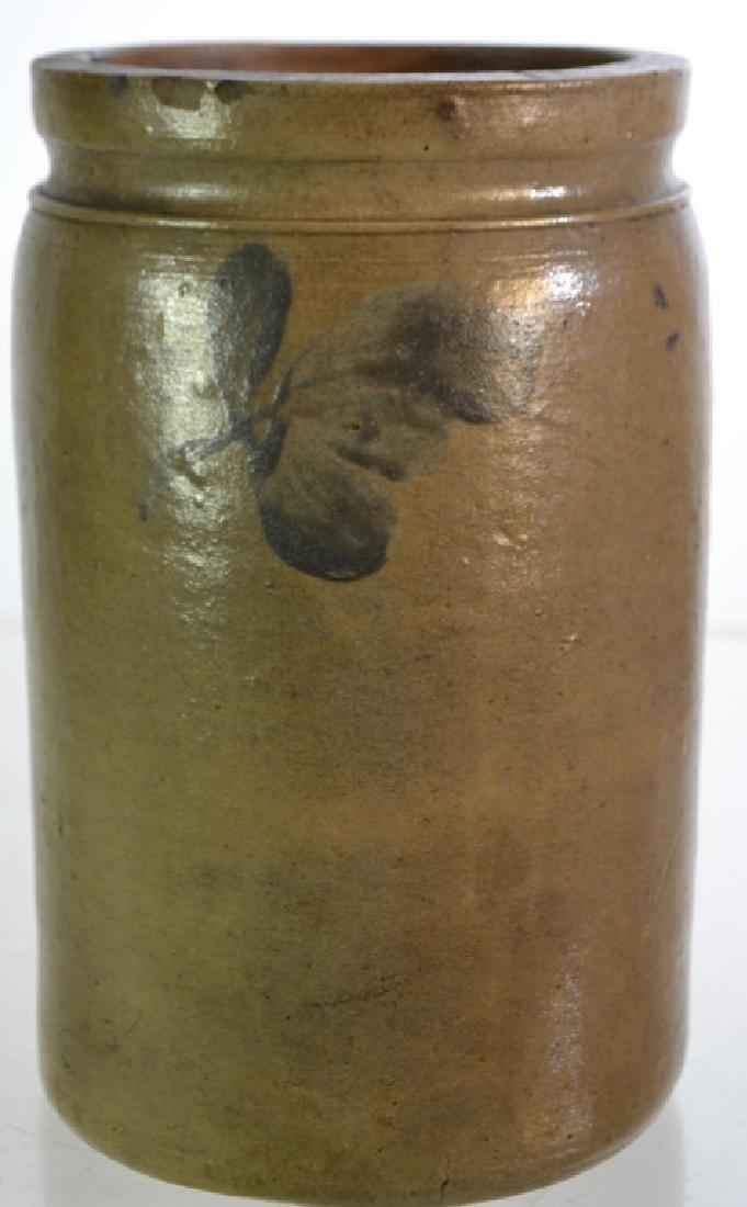 Blue Decorated Stone Ware Vessel - 3