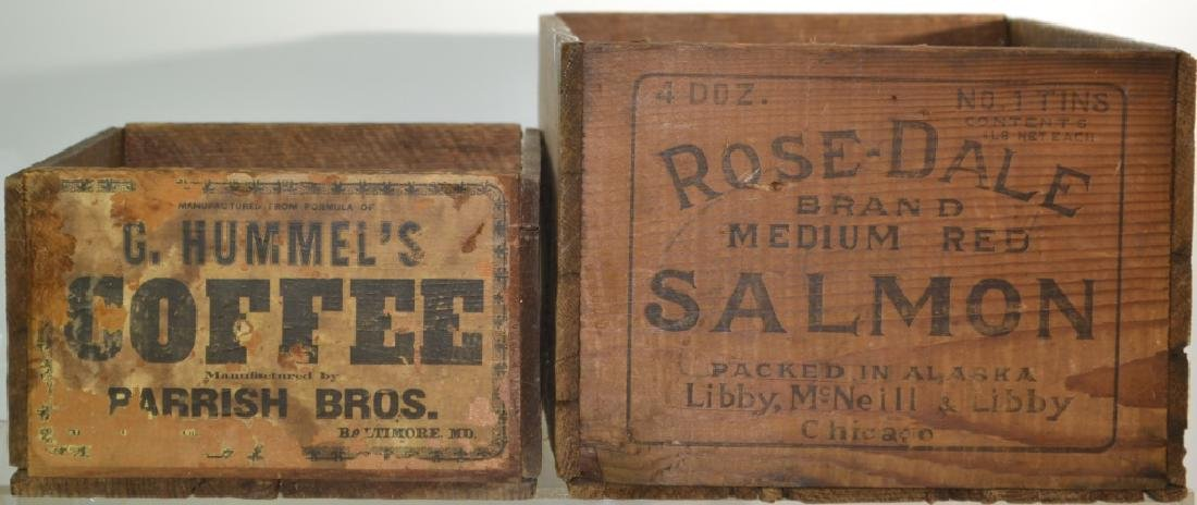 Two Advertising Crates