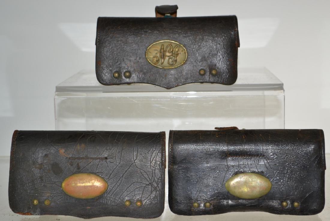 Three Spanish American War Era Ammo Pouches
