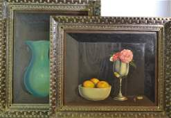 Two Still Life Paintings Signed Runyan