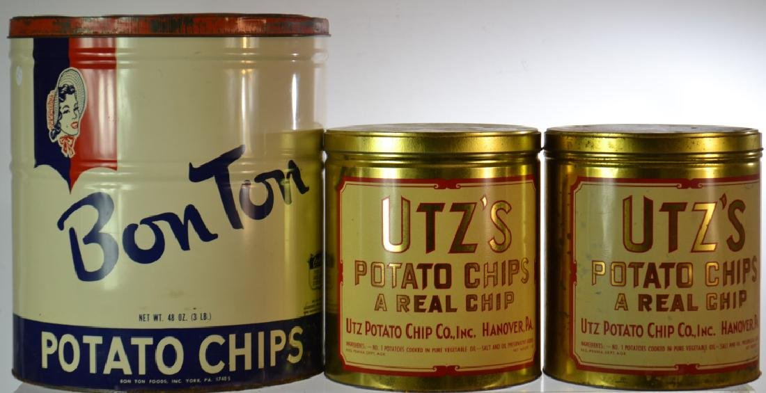 Vintage Potato Chip Cans