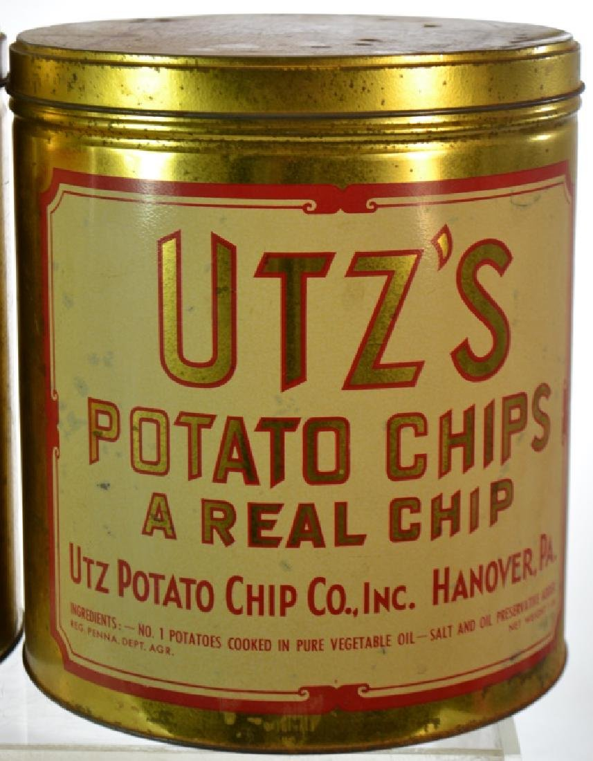 Vintage Potato Chip Cans - 2