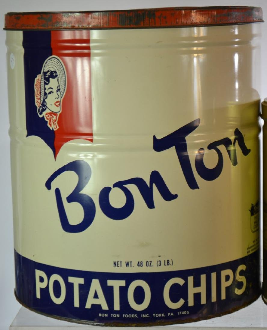 Vintage Potato Chip Cans - 3