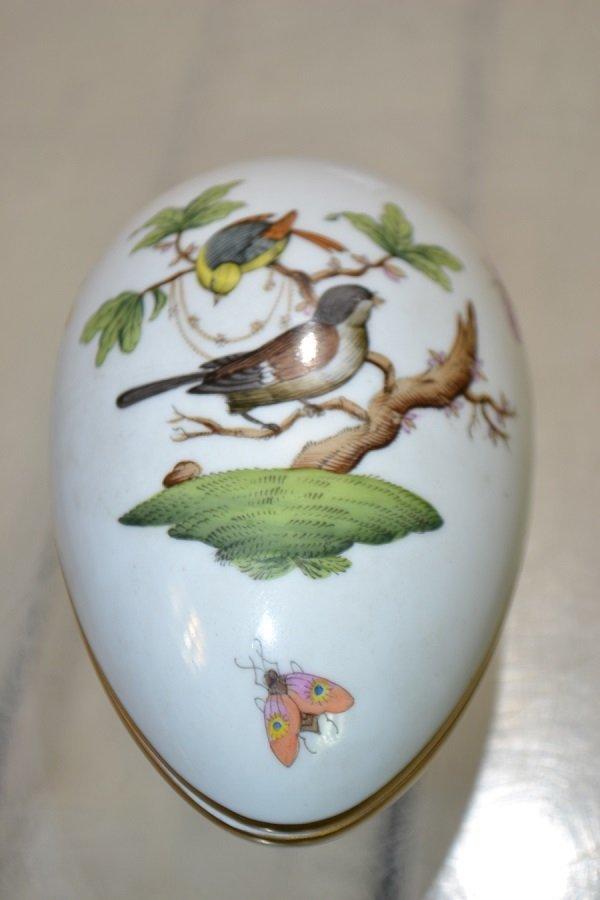 "Hungarian ""Herend"" Egg Box - 2"