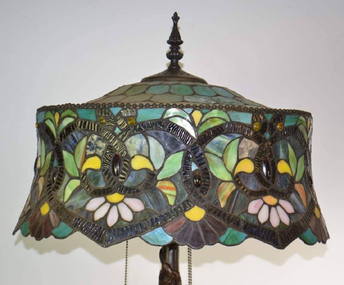Table Lamp with Stained Glass Shade - 2