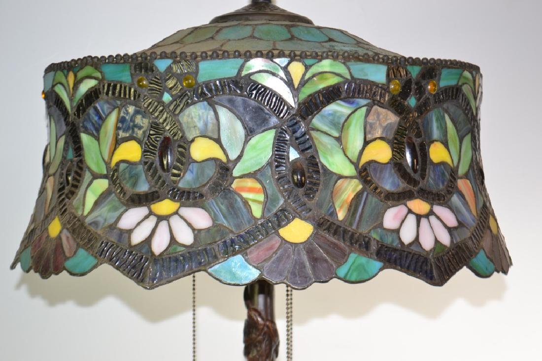 Table Lamp with Stained Glass Shade - 3