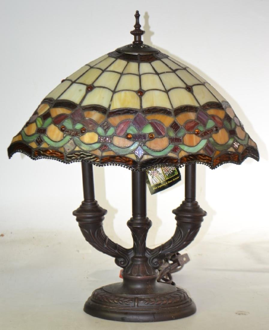 Dale Tiffany Lamp with Stained Glass Shade