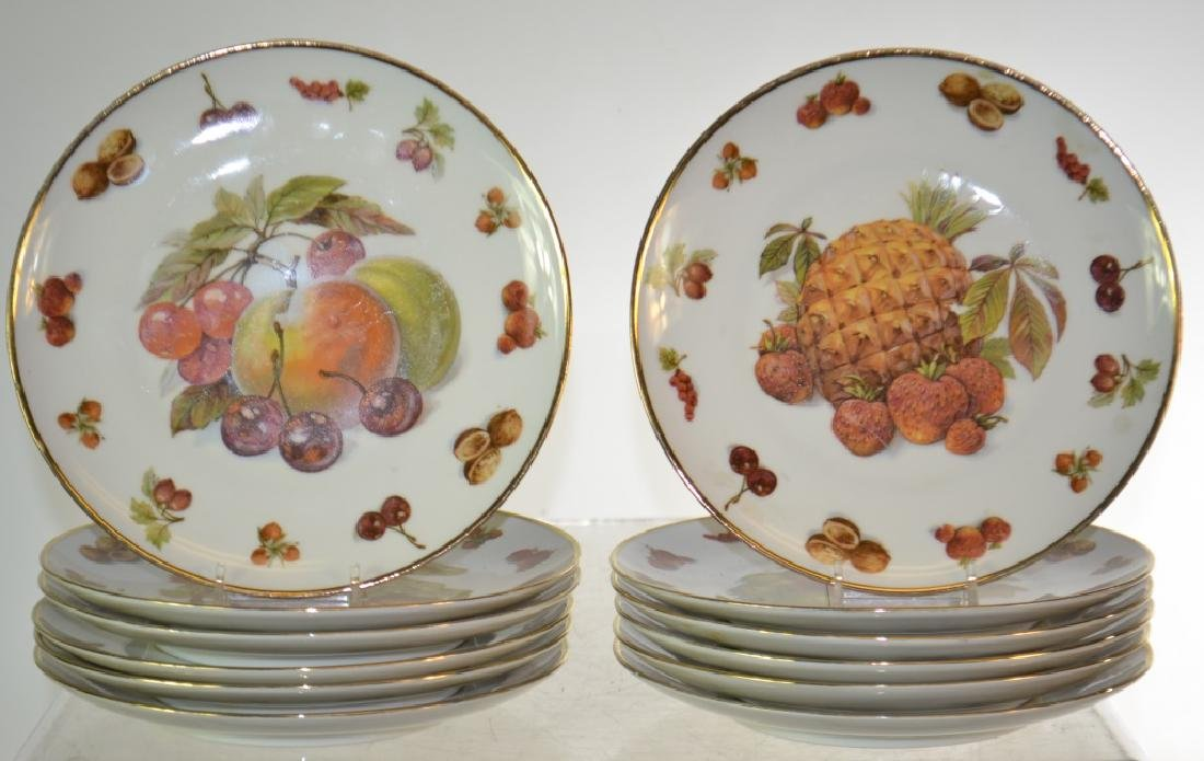 Set of Twelve Royal Hanover Fruit Plates
