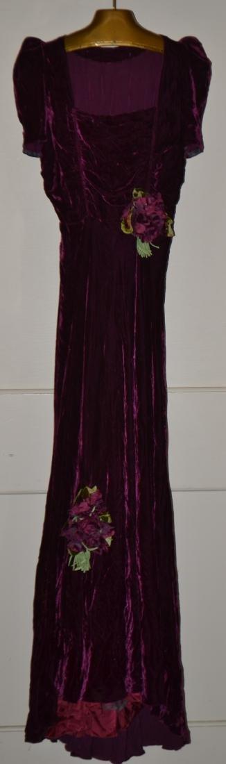 Purple Velvet Cocktail Dress