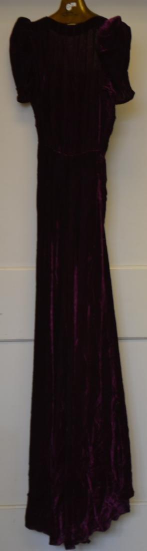 Purple Velvet Cocktail Dress - 2