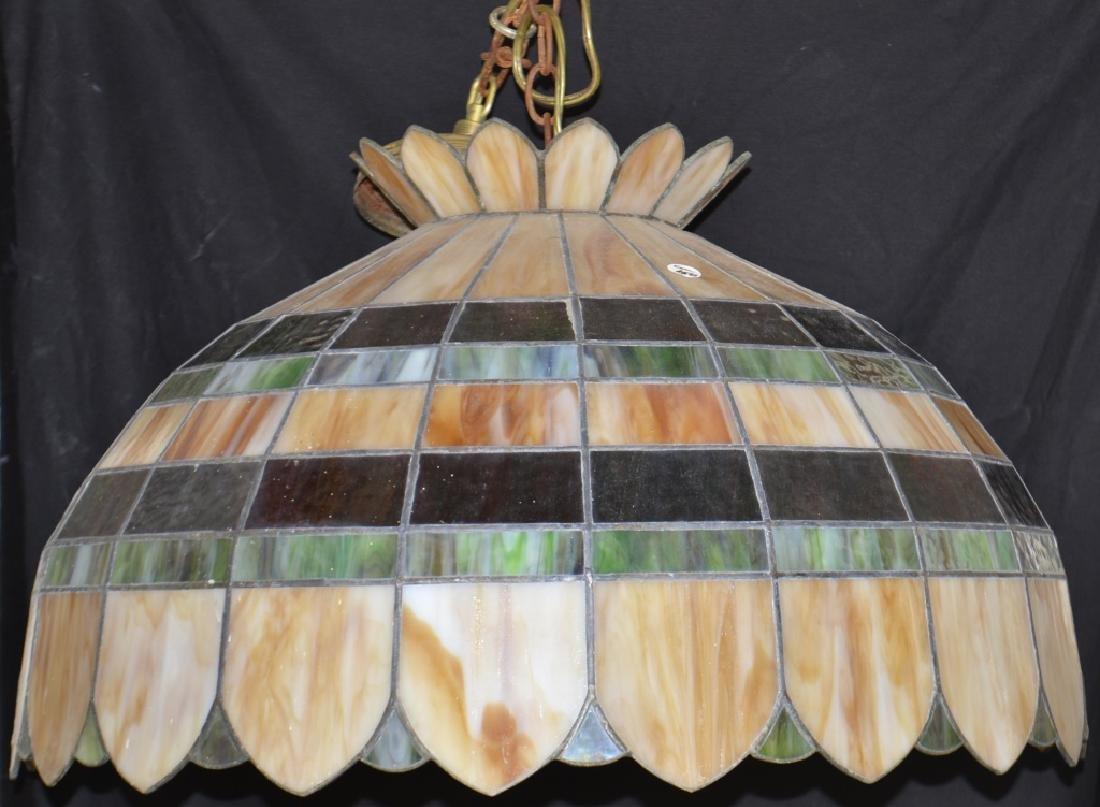 Hanging Slag Glass Lamp