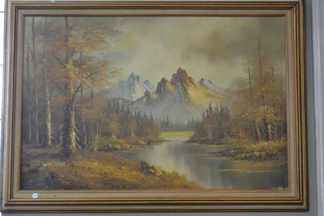 Oil on Canvas Signed Whitman