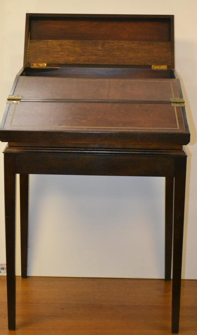 Fold Away Writing Desk on Stand - 2