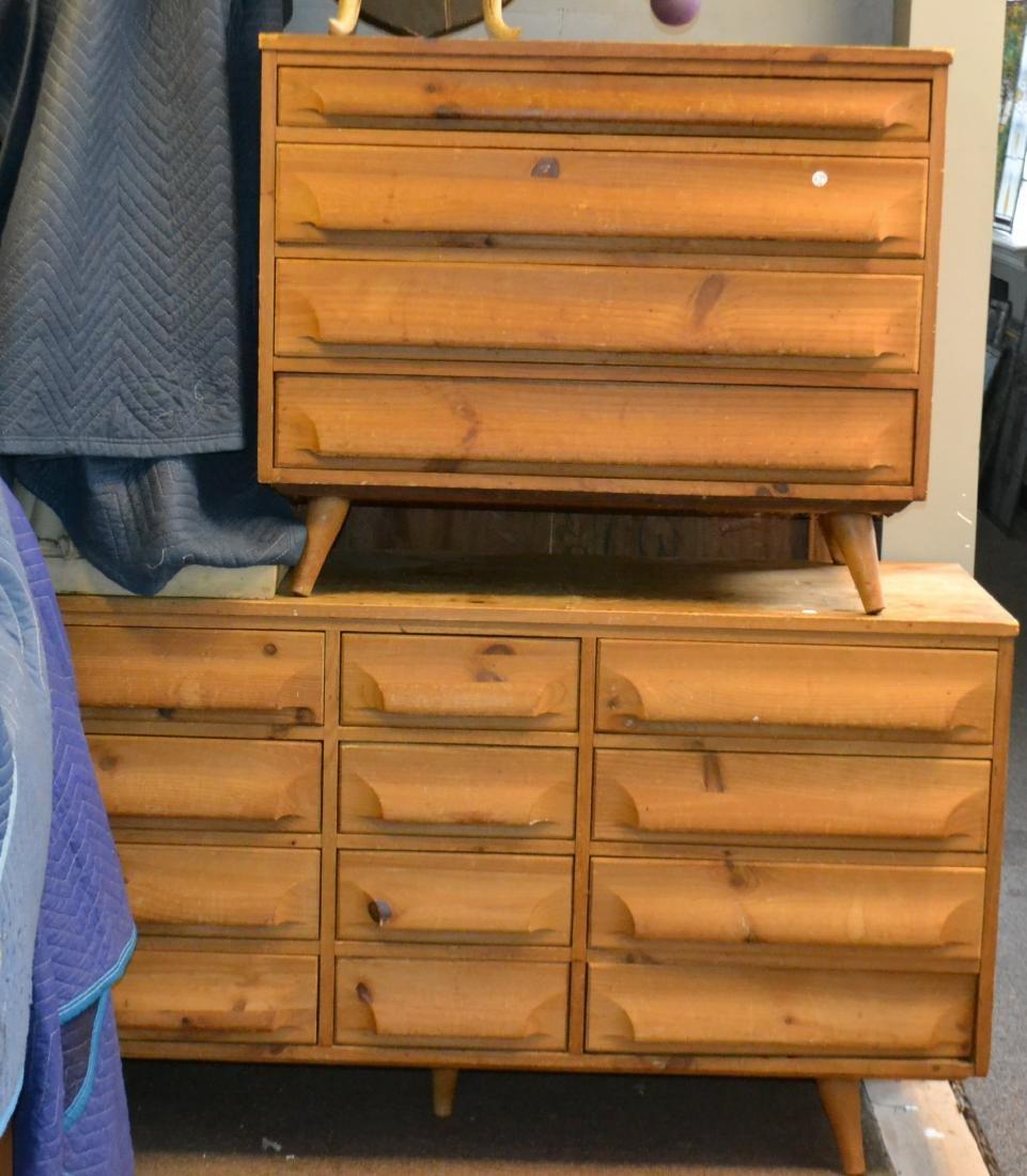Two Mid Century Franklin Shockey Dressers