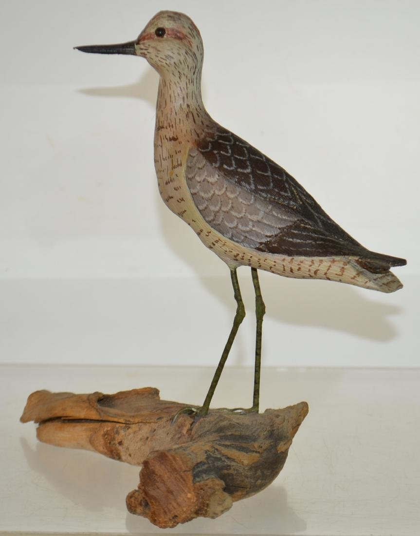 "Carved Shore Bird Signed ""Buckwalter"""