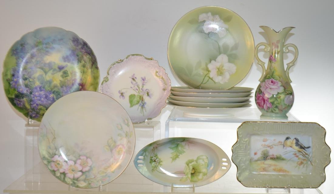 Grouping of Hand Painted China