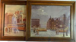 Two Prints of York PA by Streavig