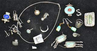 Native American Sterling Jewelry Grouping