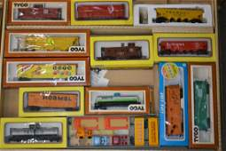 Tyco HO Train Cars in Box and More