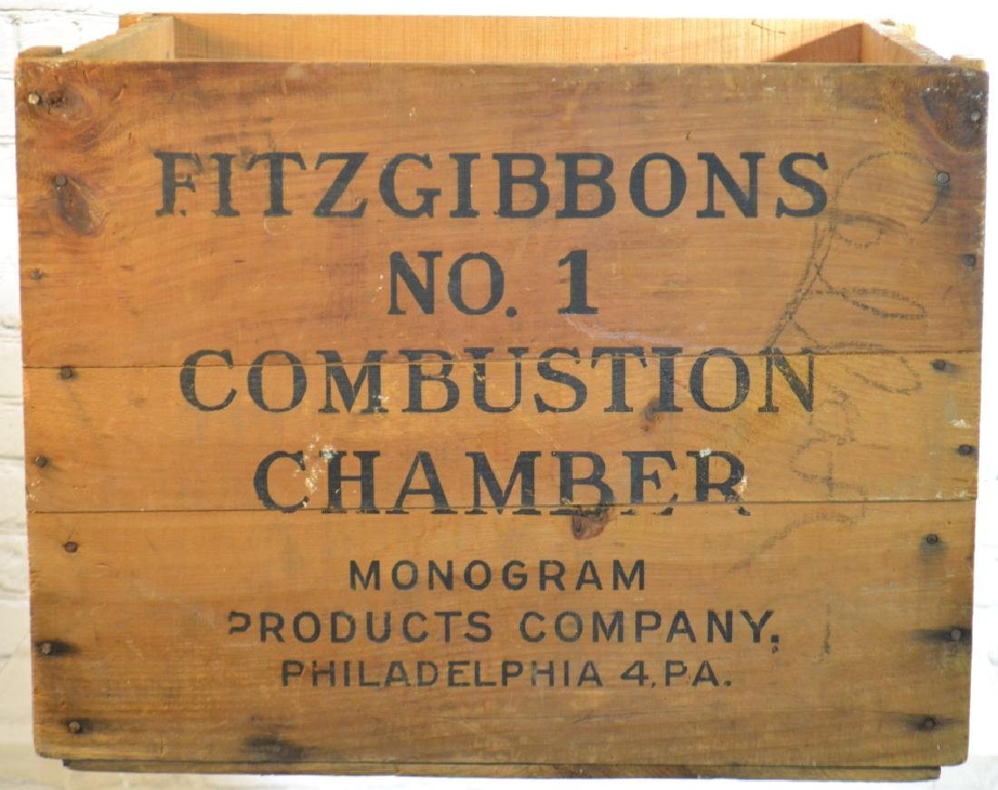 """Fitzgibbons"" Advertising Crate"