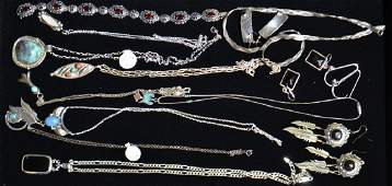 Sterling Jewelry Grouping and More
