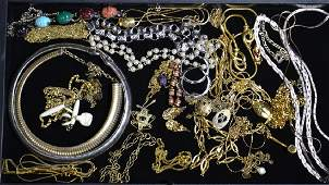 Sterling and Costume Jewelry Grouping