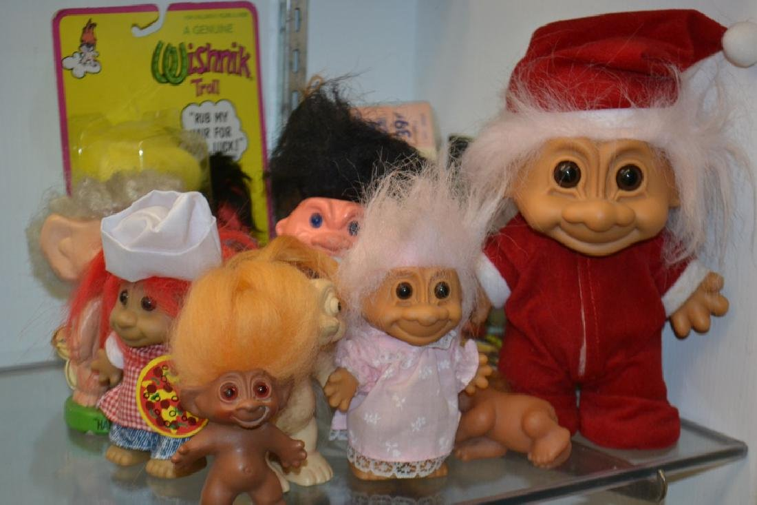 Grouping of Troll Dolls