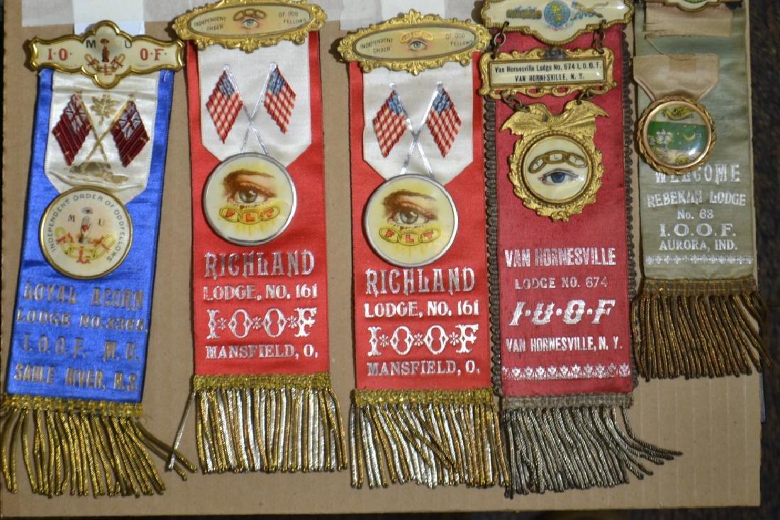 Five Vintage Oddfellows Ribbons