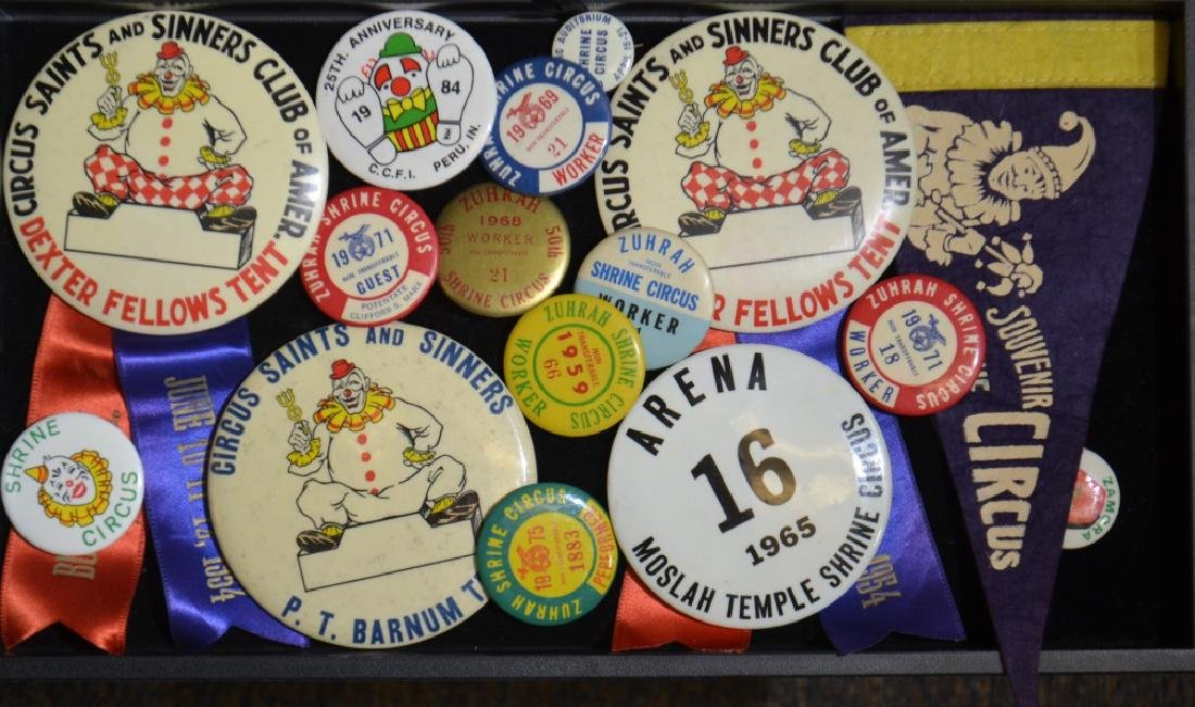 Shrine Circus Pin Backs