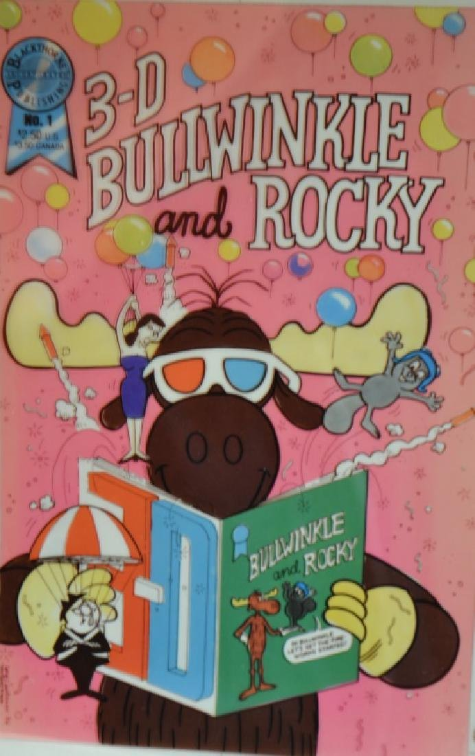 Three D Bullwinkle and Rocky Book and Card - 2