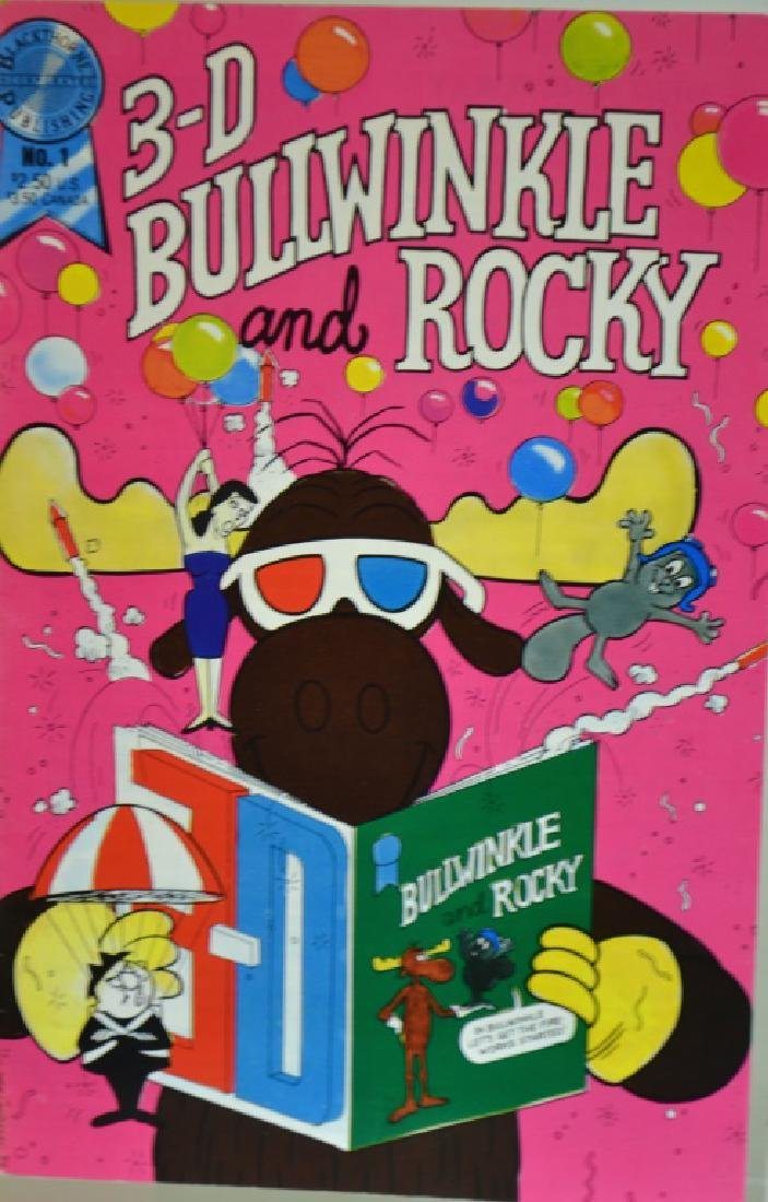 Three D Bullwinkle and Rocky Book and Card - 3