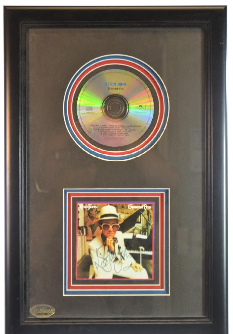 "Autographed CD ""Elton John's Greatest Hits"""