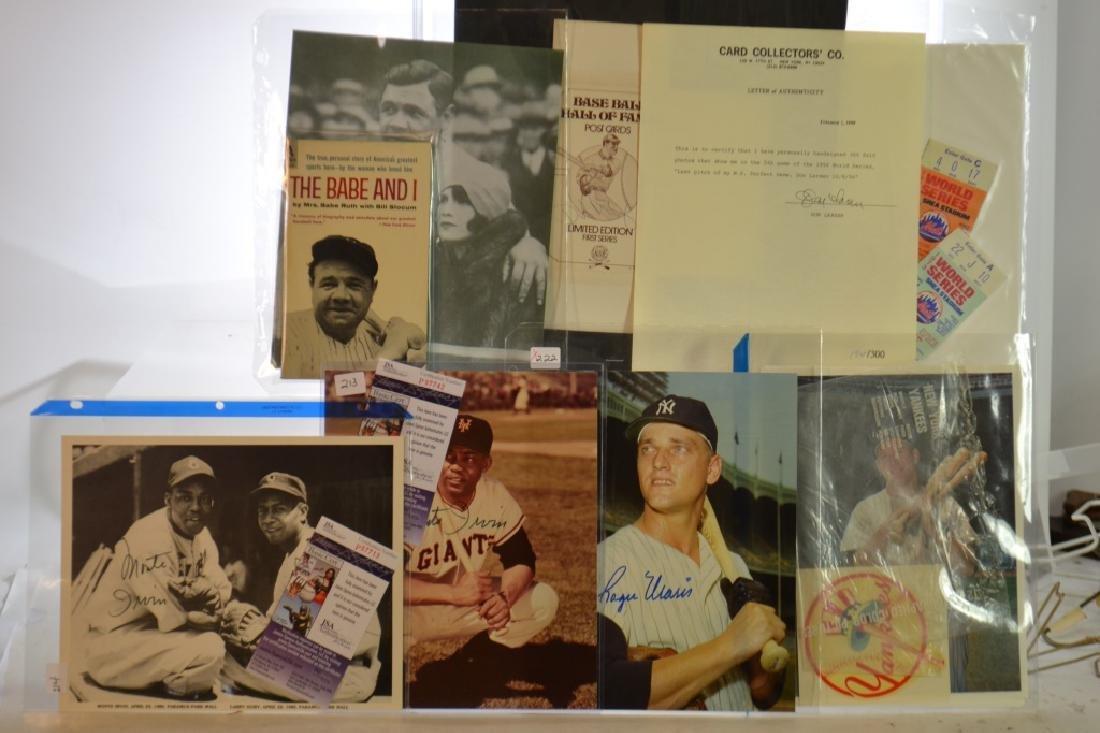 Baseball Ephemera/Ruth, Irvin and More