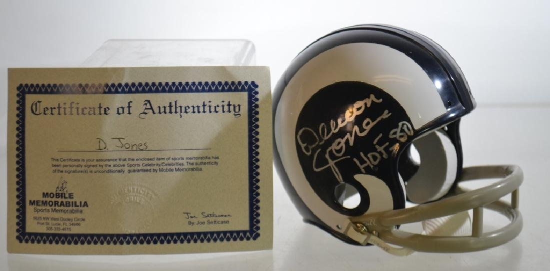 Autographed Deacon Jones Mini Helmet