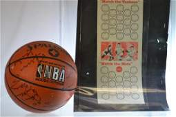 Autographed Basketball and Baseball Ephemera Group