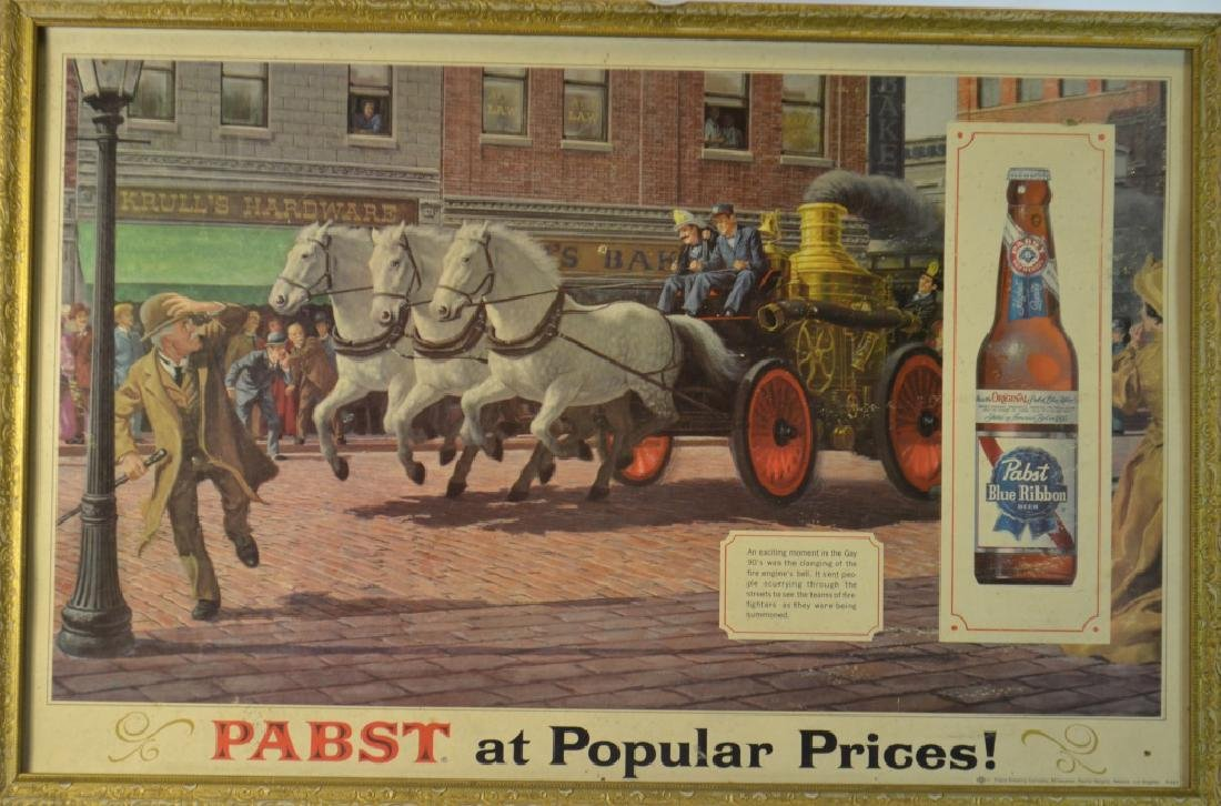 Vintage Pabst Blue Ribbon Advertising Sign