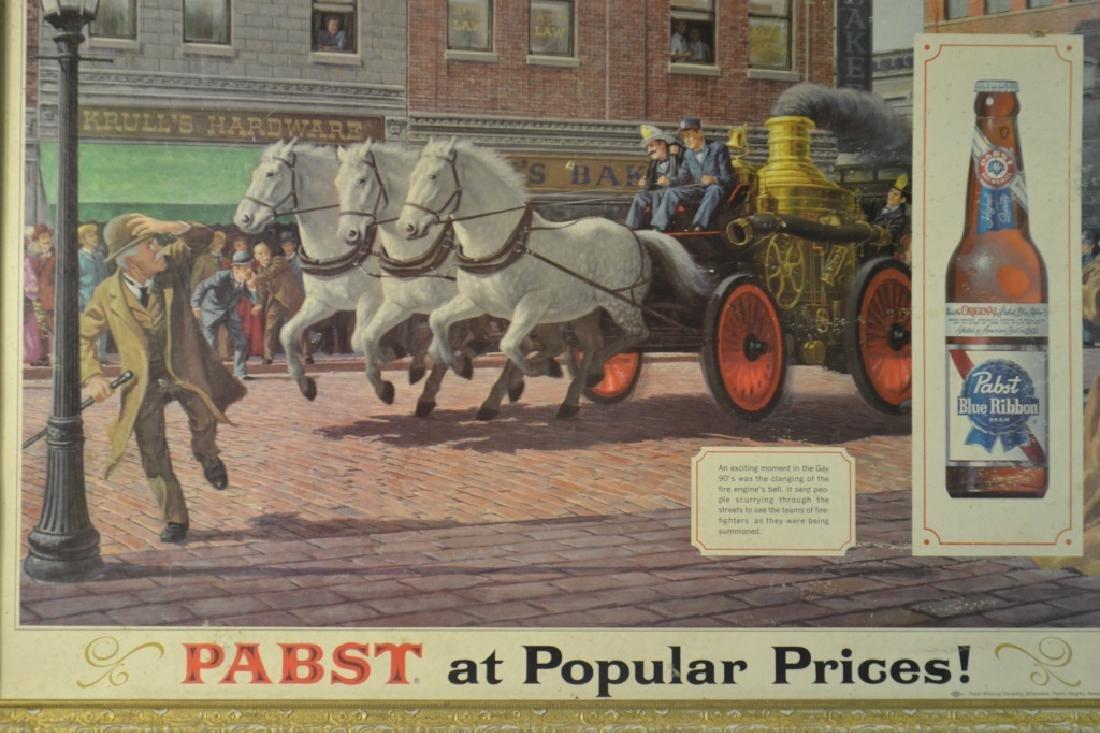 Vintage Pabst Blue Ribbon Advertising Sign - 3