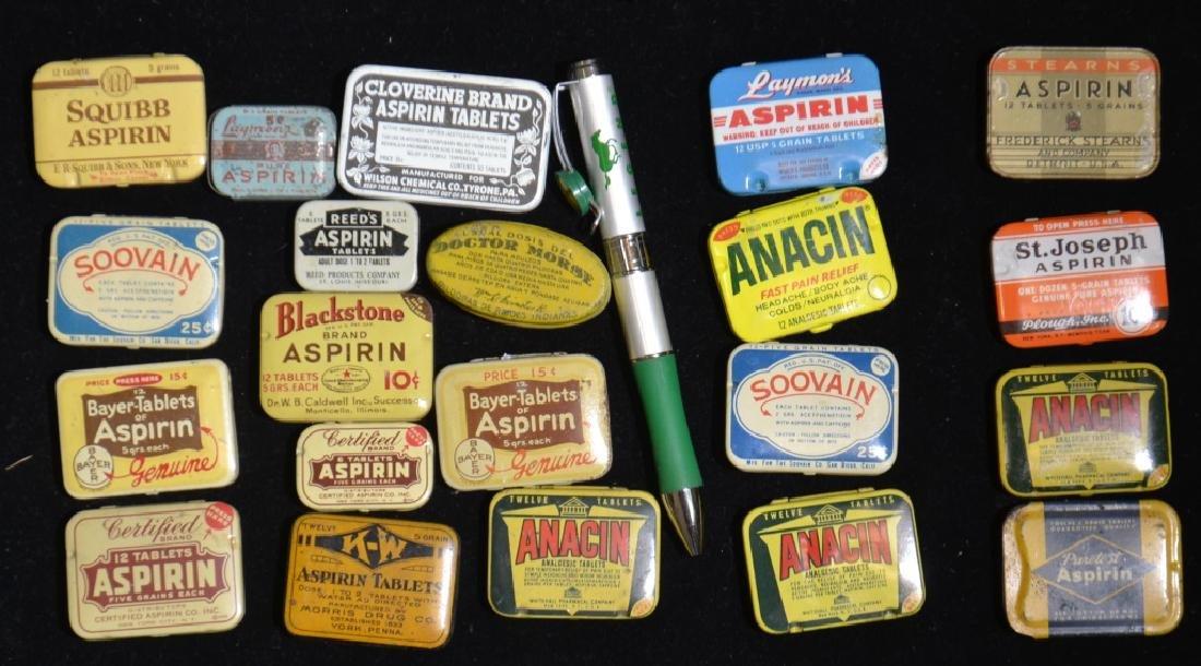 Grouping of Vintage Pocket Tins