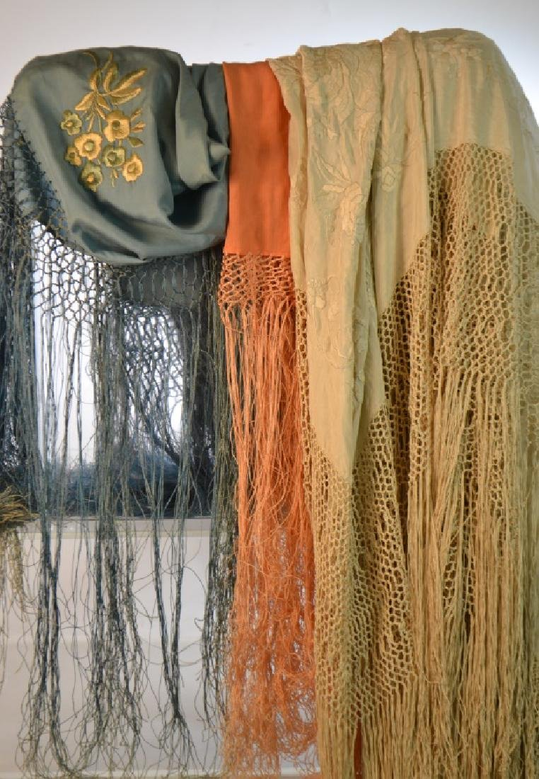 Fringed Shawls and Table Covers