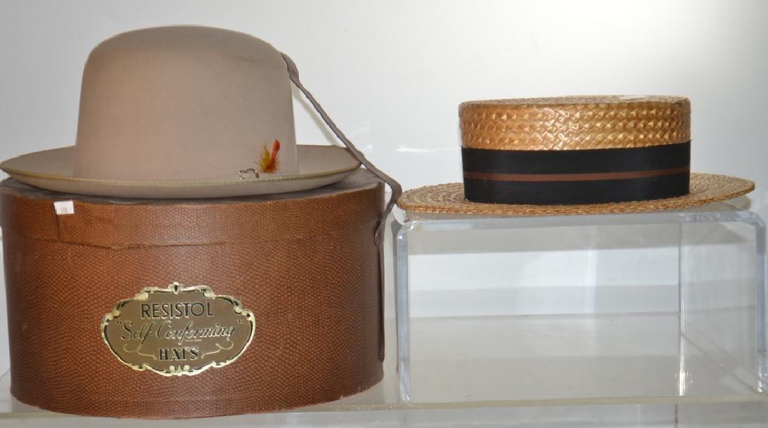 Two Vintage Men's Hats
