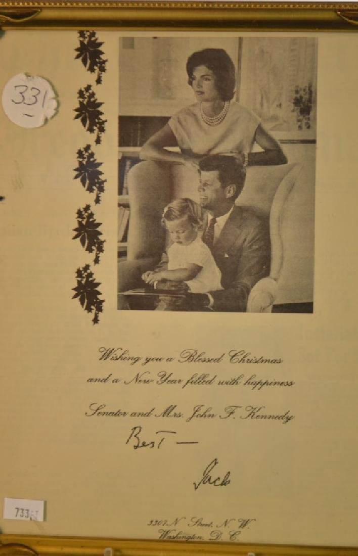 Autographed Photo of Senator John F. Kennedy