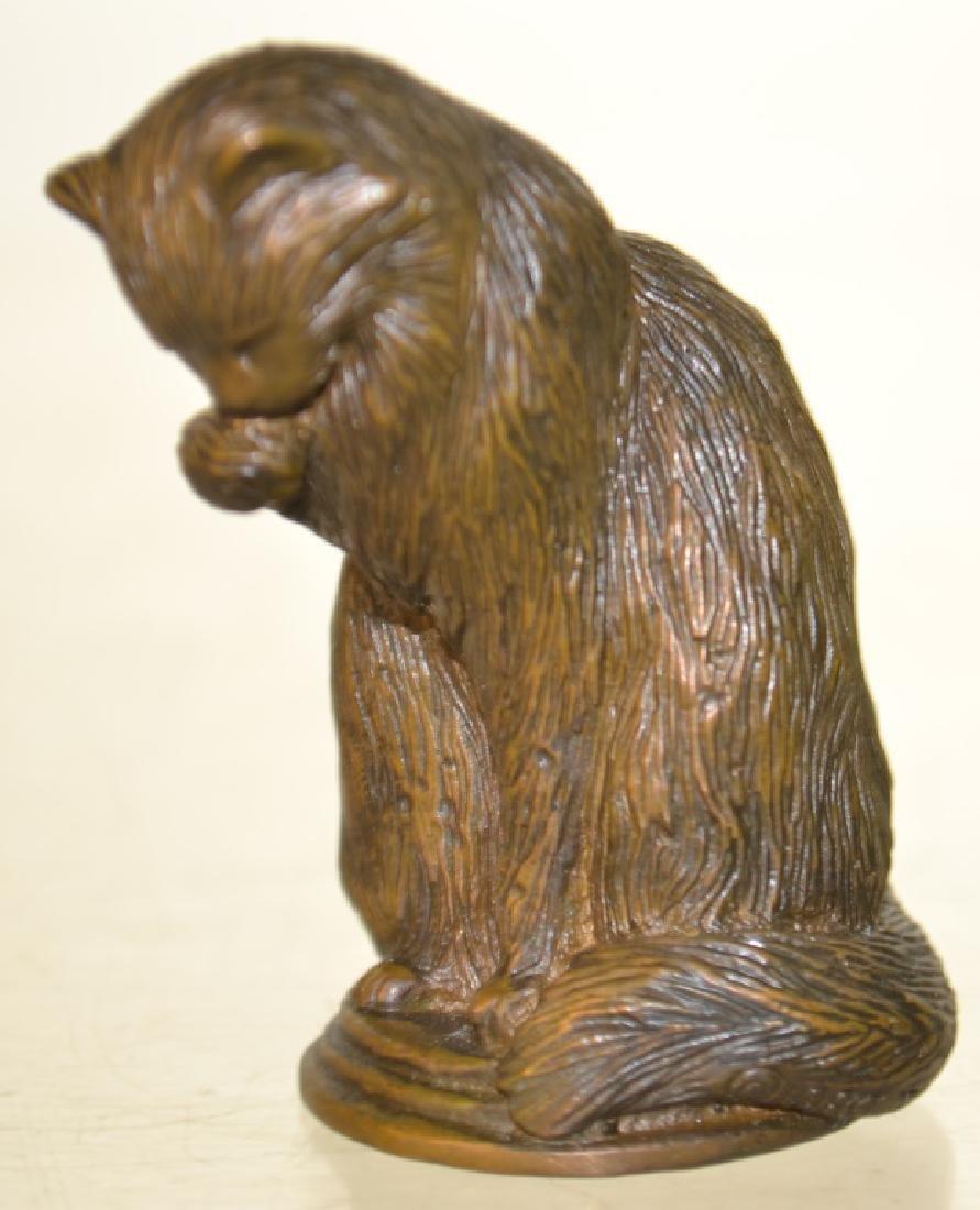 Miniature Bronze of a Cat