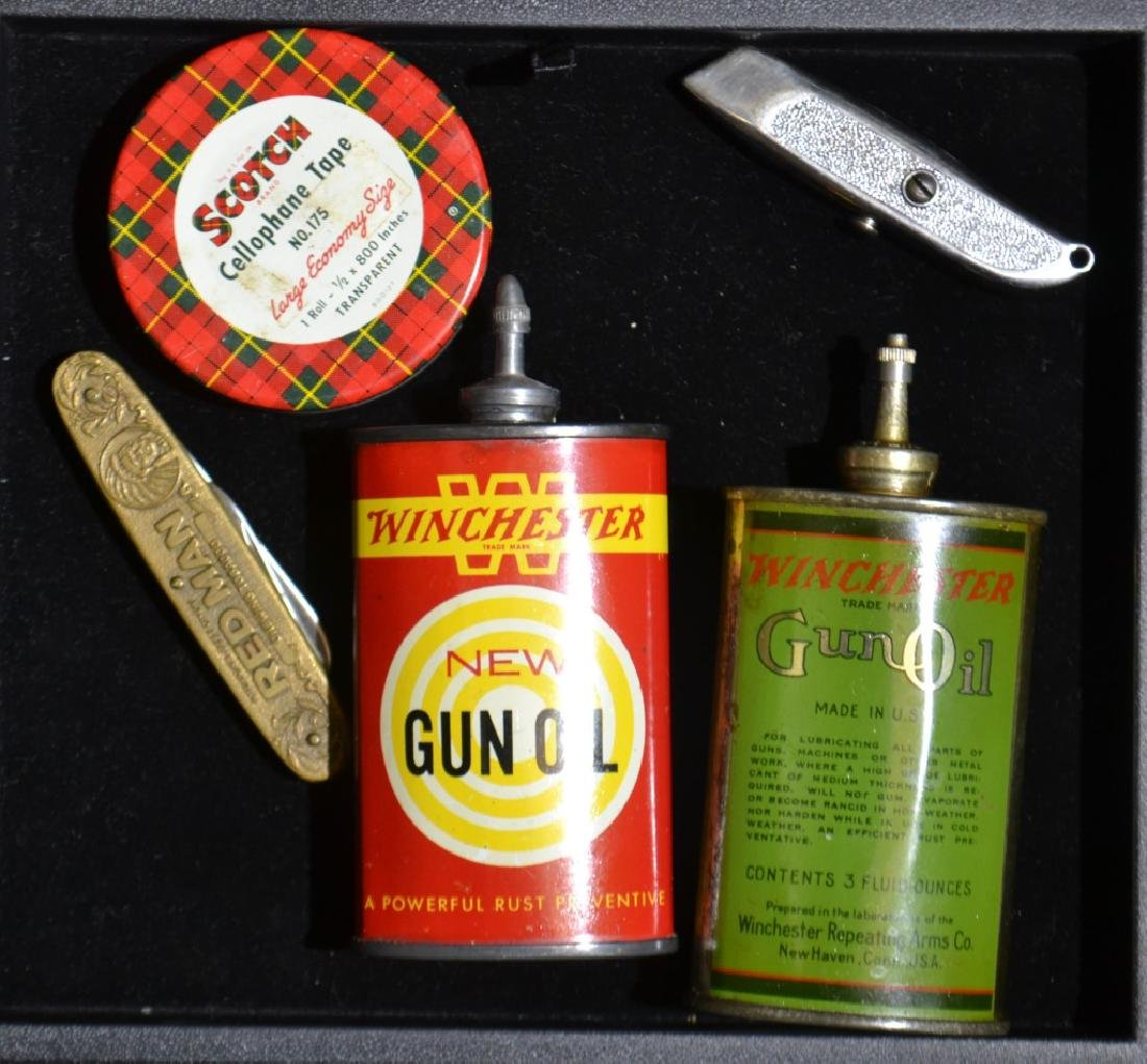 Winchester Gun Oil Tins