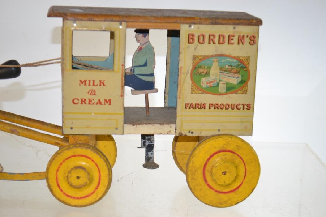 "Vintage ""Borden's"" Horse Drawn Pull Toy - 2"