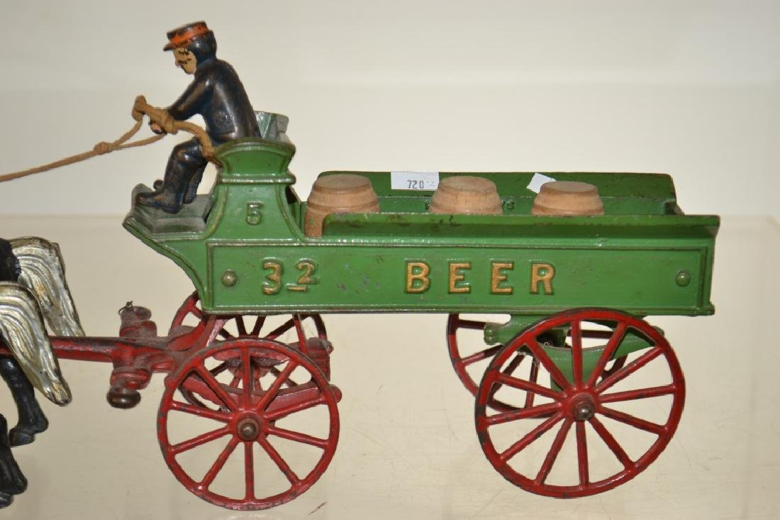 """Kenton"" Toy Horse Drawn Beer Wagon circa1930 - 2"