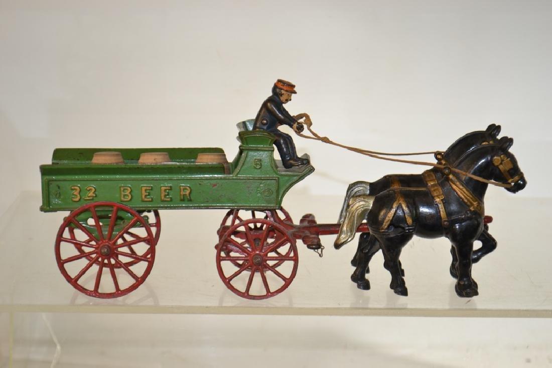 """Kenton"" Toy Horse Drawn Beer Wagon circa1930 - 3"